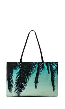 Samudra Hanging Palm Beach Bag in Blue