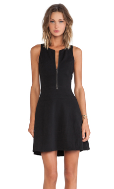 Sanctuary Zip Flirt Dress in Black