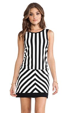 Sanctuary Mondrian Dress in Black & White