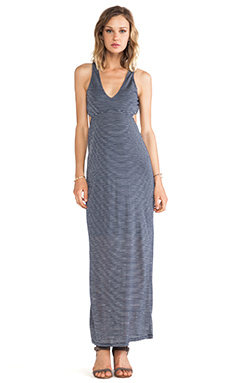 Sanctuary Sun Maxi Dress in Navy & White