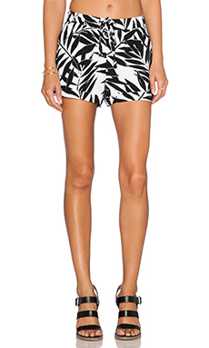 Sanctuary Ben Short in Black & White Palm Print