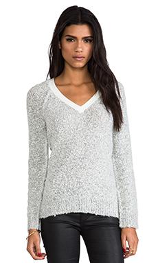 Sanctuary Winter V-Neck Sweater in Salt & Pepper