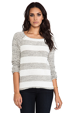 Sanctuary Party Stripe Sweater in Grey Multi
