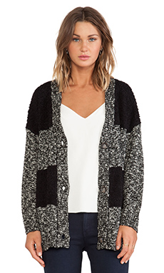 Sanctuary Boyfriend Sweater in Black, White & Stone