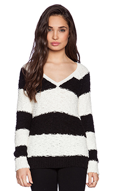 Sanctuary Teddy Bear Sweater in Black & Ivory