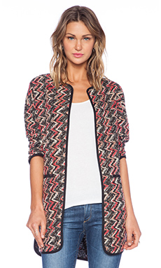 Sanctuary Kimono City Coat in Multi Black