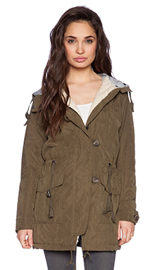 Sanctuary Shelter Parka Jacket in Fatigue