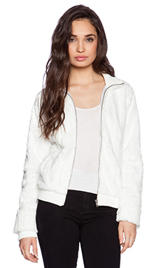 Sanctuary Urban Bomber Jacket in Winter White