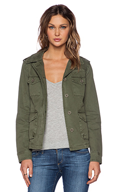 Sanctuary Troop Peplum Jacket in Original Army Green