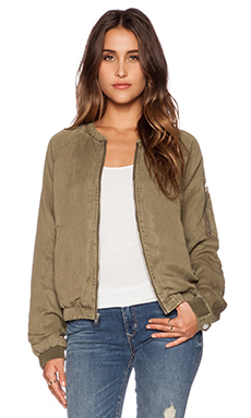 Sanctuary Pilot Bomber Jacket in Safari