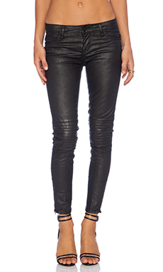 Sanctuary Leather Look Jean in Black