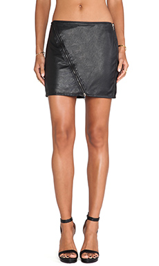 PERFORATED VEGAN MINI SKIRT
