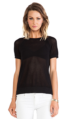 Sanctuary Mesh Crew Tee in Black