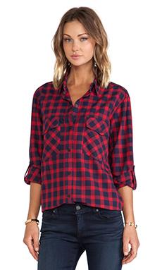 Sanctuary Teen Spirit Shirt in Ruby Plaid