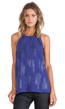 Sanctuary Flirt Back Tank in Blue Velvet