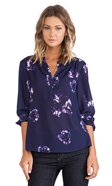 Sanctuary Floral Tunic in Blue Velvet