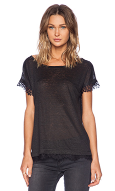 Sanctuary Bella Lace Tee in Black