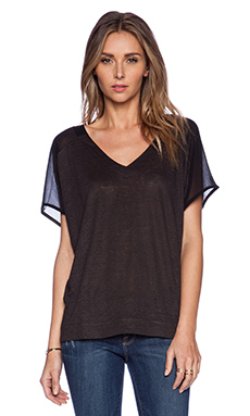 Sanctuary Mix it up Tee in Charcoal Black