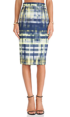SAM&LAVI Allyson Skirt in Tatter Plaid