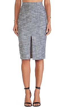 SAM&LAVI Marina Skirt in Heather Chambray
