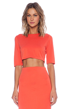 SAM&LAVI Tara Crop Top in Red Orange