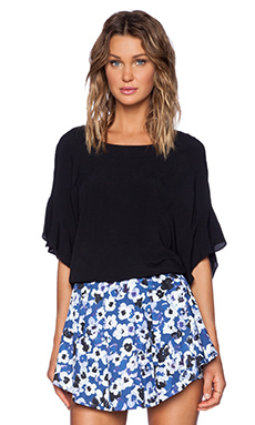 SAM&LAVI Beth Top in Black