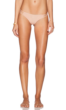 SAN LORENZO Braided Strap Reversible Hipster Bikini Bottom in Nu