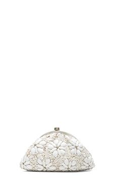 Santi Floral Clutch in White