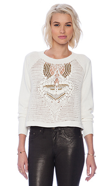 Sass & Bide Freeze Frame Sweater in Ivory Embellishment