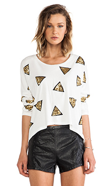 Sass & Bide Free Rides Pullover in Ivory