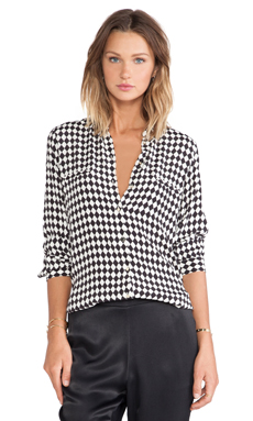 Sass & Bide Life Drawing Shirt in Cream & Black