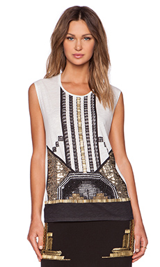 Sass & Bide La Diva De L'Empire Top in Ivory