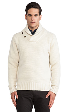 SATURDAYS NYC Frederick Pullover in Ecru