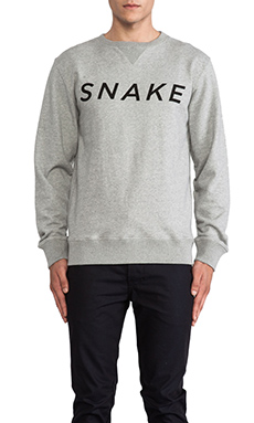 SATURDAYS NYC Bowery Snake Pullover in Grey Heather