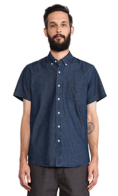 SATURDAYS NYC Esquina Button Down in Indigo Denim