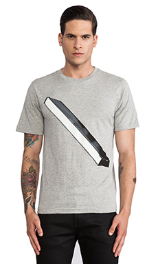 SATURDAYS NYC Picture Slash Tee in Grey Heather