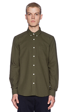 SATURDAYS NYC Crosby Button Down in Dark Fatigue