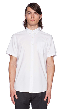 SATURDAYS NYC Esquina Oxford Button Down in White