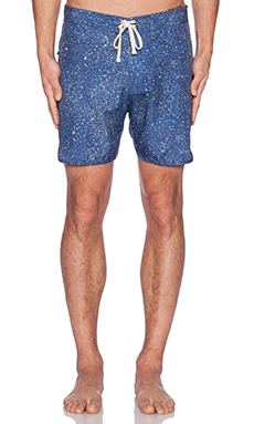 SATURDAYS NYC Logan Boardshorts in Navy Splatter