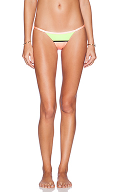 Sauvage Micro Bikini Bottom in Limon & Coral