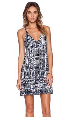 SAYLOR Clem Dress in Blue & White