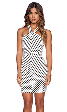 SAYLOR Ginny Dress in Black & White