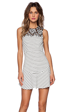 SAYLOR Ray Dress in Black & White