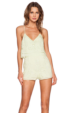 SAYLOR Cecelia Romper in Faded Lime