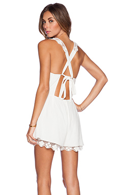 SAYLOR Tara Romper in White
