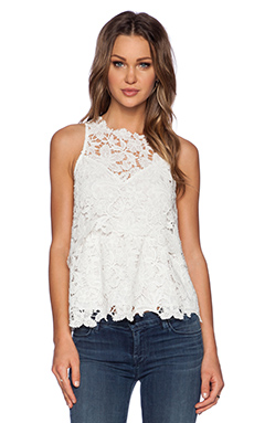 SAYLOR Violet Top in White