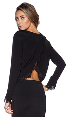 SAYLOR Keira Long Sleeve Top in Black
