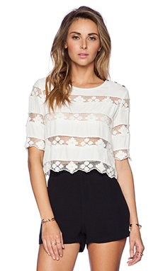 SAYLOR Liza Top in White