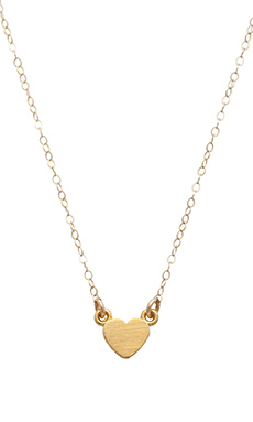 Stella and Bow Heart Necklace in Gold