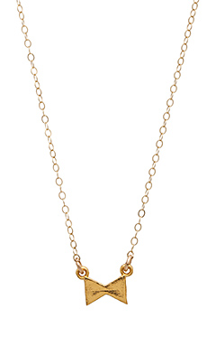 Stella and Bow Bow Necklace in Gold